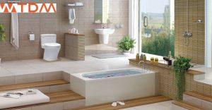 Phòng tắm có bồn câu MS 864 TOTO