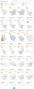 bảng báo giá thiết bị vệ sinh Toto chính hãng